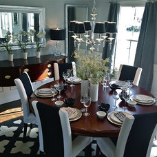 Traditional Dining Room by South Shore Decorating