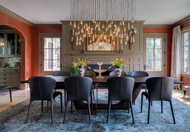 Transitional Dining Room by Shelley Morris Interiors