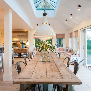 Design Ideas For A Large Nautical Dining Room In Sus
