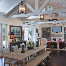 rustic family room by RJS Builders