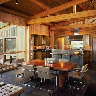 Inspiration for a rustic kitchen/dining room combo remodel in Salt Lake City
