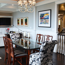 Contemporary Dining Room by Kylie M Interiors