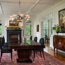 Traditional Dining Room by Peter Zimmerman Architects