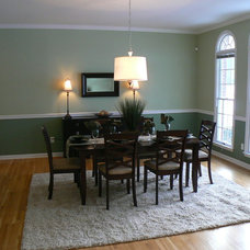 Eclectic Dining Room by Whitehall Interiors & Home Staging
