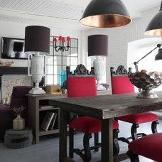 Eclectic Dining Room by Korneev Design Workshop