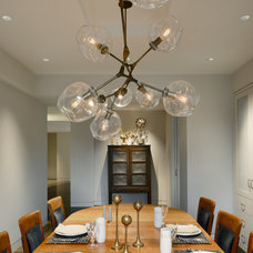 Transitional Dining Room by Harry Elson Architect PC
