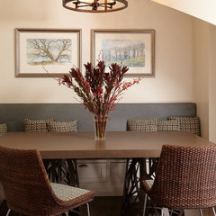 contemporary dining room by Carolyn Rebuffel Designs