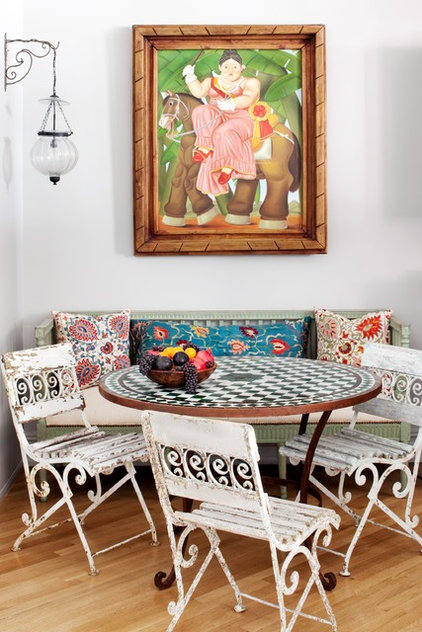 Eclectic Dining Room by Deborah French Designs