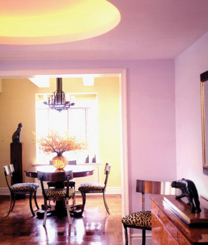 Midcentury pink dining room design ideas renovations photos for Pink dining room ideas