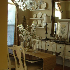 Traditional Dining Room Newly White Painted Furniture
