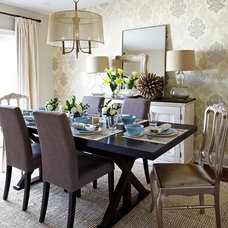Transitional Dining Room by Jennifer Simon Design