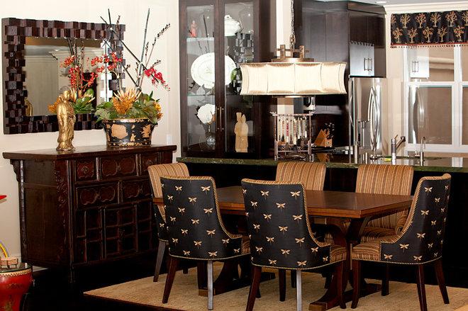 Asian Dining Room by Joyce Bright Interiors, Inc.