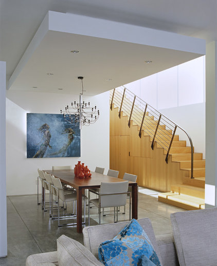 modern dining room by Paul Davis Architects PC
