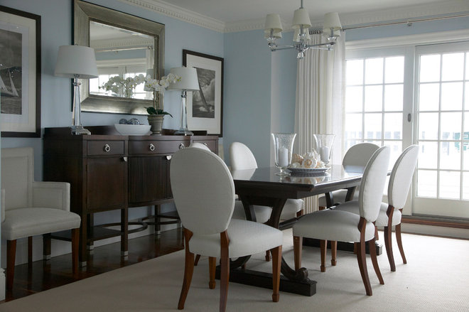 Beach Style Dining Room by Libby Langdon Interiors, Inc.