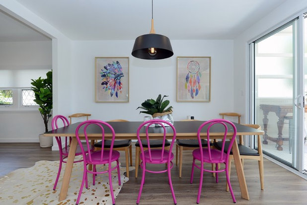 Eclectic Dining Room by Ukalovic Design