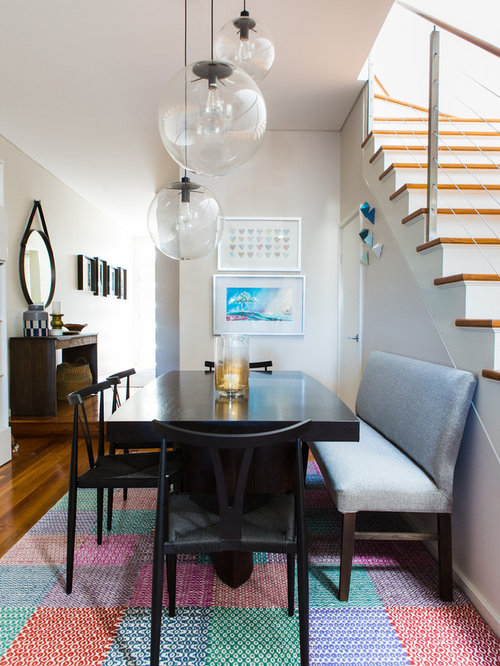 Small Eclectic Dining Room In Sydney With No Fireplace. Part 76