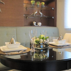 Contemporary Dining Room by Marie Hebson's interiorsBYDESIGN Inc.