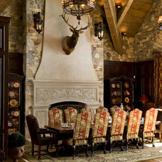 Rustic Dining Room by Big Wood Timber Frames, Inc.