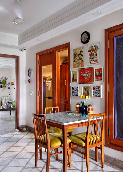 Eclectic Dining Room by Mrigank Sharma Photography