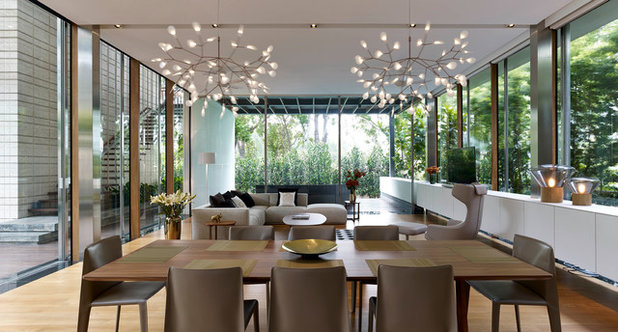 Contemporary Dining Room by Greg Shand Architects