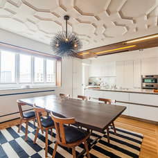 Contemporary Dining Room by S. A. Baxter, Inc.