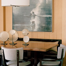 Transitional Dining Room by Leverone Design, Inc.