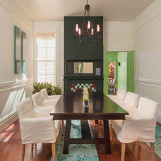 Transitional Dining Room by Susan Diana Harris Interior Design