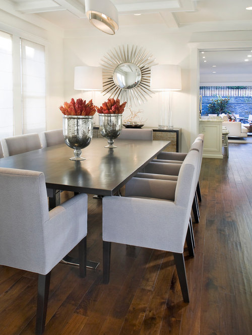 Trendy dining room photo in San Francisco with white walls and dark wood  floorsHomesense Table   Houzz. Dining Room Chairs Homesense. Home Design Ideas