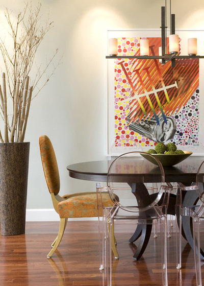 Transitional Dining Room by Brian Dittmar Design, Inc.
