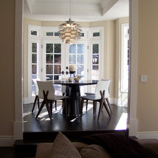 Contemporary Dining Room by Nina sobiNina Design