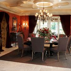 Mediterranean Dining Room by Palmieri Builders