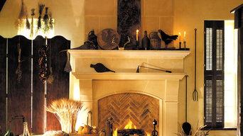 Normandy Cast Stone Fireplace Mantel