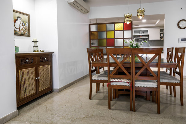 Transitional Dining Room by Weespaces
