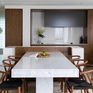 Trendy dining room photo in Sydney
