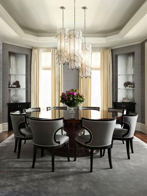 Medium sized traditional enclosed dining room design ideas for Medium dining room ideas