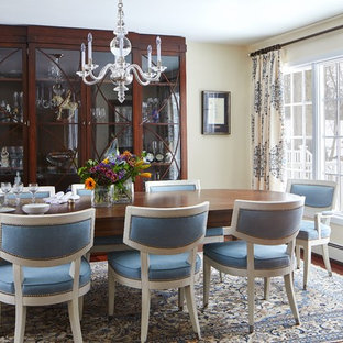 Surprising 75 Beautiful Transitional Dining Room Pictures Ideas Houzz Home Interior And Landscaping Synyenasavecom