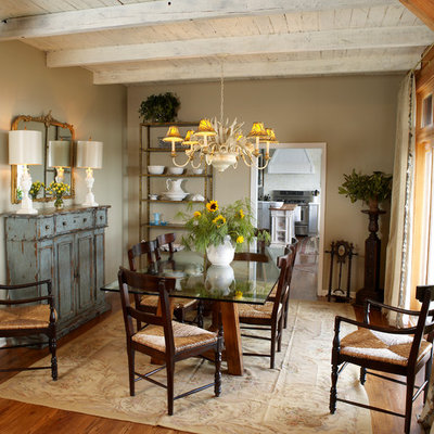 Mid-sized country light wood floor great room photo in Charlotte with beige walls and no fireplace