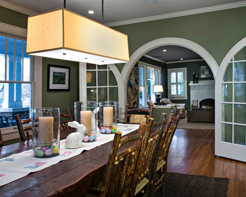 Easter basket centerpiece ideas houzz enclosed dining room traditional dark wood floor enclosed dining room idea in other with green negle Image collections
