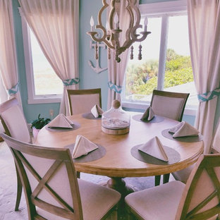 Inspiration for a beach style dining room in Tampa.