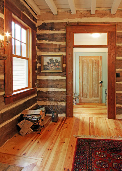 Rustic Dining Room by Clark & Zook Architects, LLC