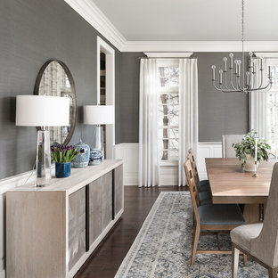Dining room - transitional dining room idea in Chicago