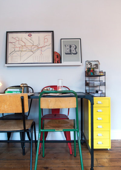 Eclectic Dining Room by Amelia Hallsworth Photography