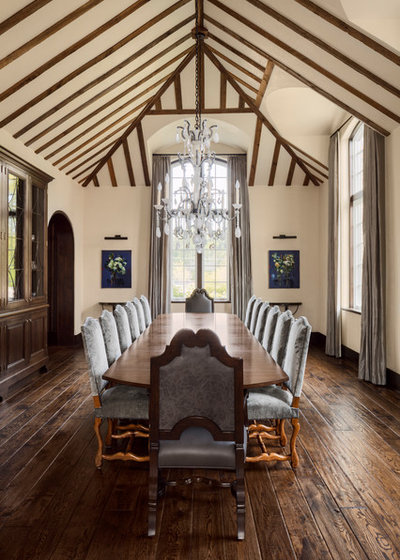 Traditional Dining Room by Wade Weissmann Architecture