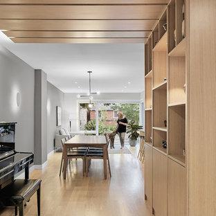 Dining room - scandinavian dining room idea in Toronto