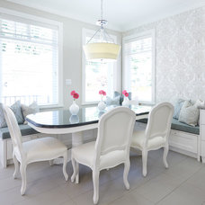Transitional Dining Room by Fina Designs