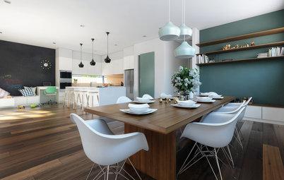 キッチンとダイニングテーブルの心地いい距離