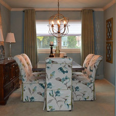 Transitional Dining Room by Uniquely Yours Redesign