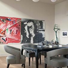 Contemporary Dining Room by John Stewart Designs