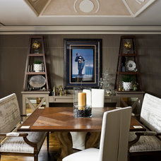 Eclectic Dining Room by SGH Designs inc.