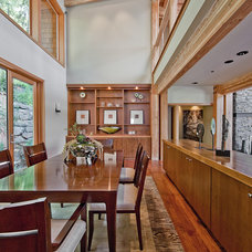 Contemporary Dining Room Northwest Territorial Residence
